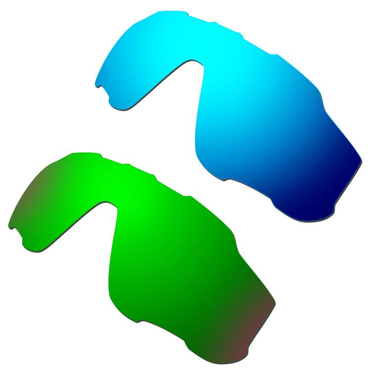 c8ba887c93 Hkuco Mens Replacement Lenses For Oakley Jawbreaker Blue Green Sunglasses