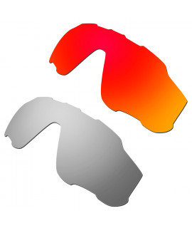 Hkuco Mens Replacement Lenses For Oakley Jawbreaker Red/Titanium Sunglasses