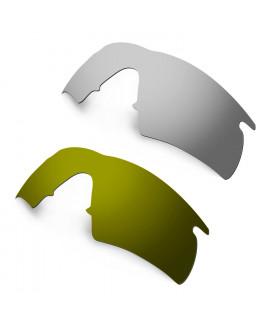 ed7a3532c9 Hkuco Mens Replacement Lenses For Oakley M Frame Hybrid Sunglasses Titanium  Mirror Bronze Polarized