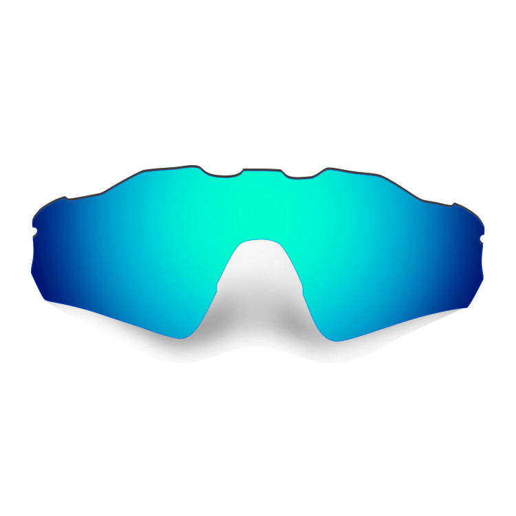 HKUCO Mens Replacement Lenses For Oakley Radar Path Blue/Titanium/Emerald Green Sunglasses IJS1wcxNBJ