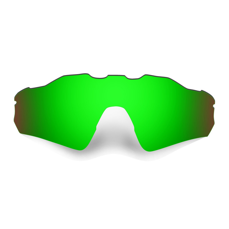 HKUCO Mens Replacement Lenses For Oakley Radar EV Path 24K Gold/Emerald Green Sunglasses