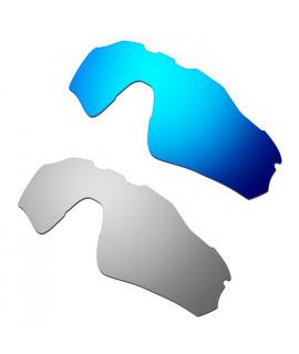 Hkuco Mens Replacement Lenses For Oakley Radar EV Path Blue/Titanium Sunglasses
