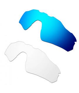 Hkuco Mens Replacement Lenses For Oakley Radar EV Path Sunglasses Blue/Transparent  Polarized