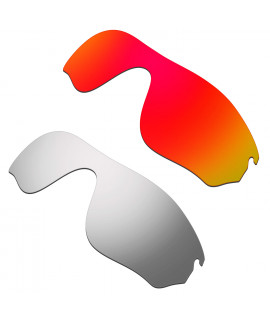 Hkuco Mens Replacement Lenses For Oakley RadarLock Pitch Red/Titanium Sunglasses