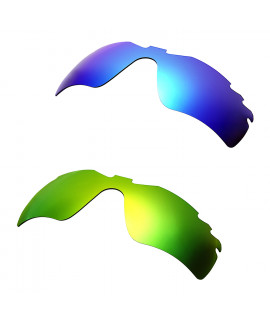 Hkuco Mens Replacement Lenses For Oakley Radar Path-Vented Blue/Green Sunglasses