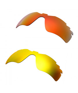 Hkuco Mens Replacement Lenses For Oakley Radar Path-Vented Red/24K Gold Sunglasses