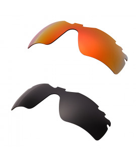Hkuco Mens Replacement Lenses For Oakley Radar Path-Vented Red/Black Sunglasses