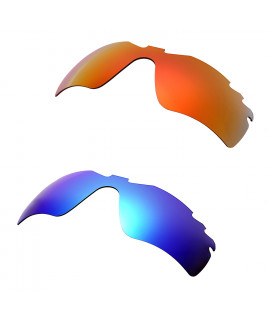 Hkuco Mens Replacement Lenses For Oakley Radar Path-Vented Red/Blue Sunglasses