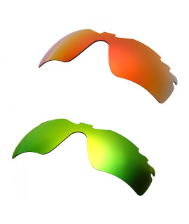 Hkuco Mens Replacement Lenses For Oakley Radar Path-Vented Red/Emerald Green Sunglasses