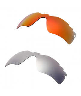 Hkuco Mens Replacement Lenses For Oakley Radar Path-Vented Red/Titanium Sunglasses