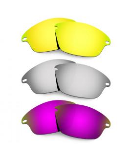 Hkuco Mens Replacement Lenses For Oakley Fast Jacket 24K Gold/Titanium/Purple Sunglasses