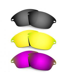 Hkuco Mens Replacement Lenses For Oakley Fast Jacket Black/24K Gold/Purple Sunglasses