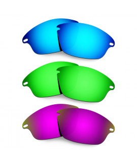 Hkuco Mens Replacement Lenses For Oakley Fast Jacket Blue/Green/Purple Sunglasses