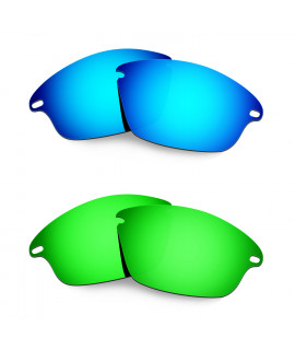 Hkuco Mens Replacement Lenses For Oakley Fast Jacket Blue/Green Sunglasses