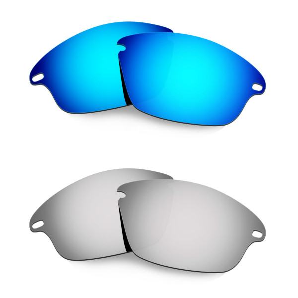 Hkuco Mens Replacement Lenses For Oakley Fast Jacket Blue/Titanium Sunglasses