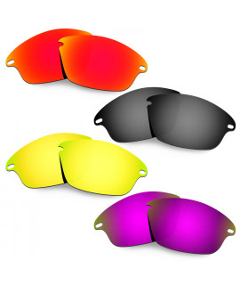 Hkuco Mens Replacement Lenses For Oakley Fast Jacket Red/Black/24K Gold/Purple Sunglasses