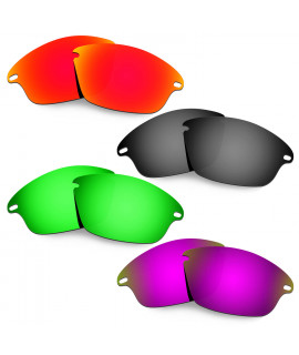 Hkuco Mens Replacement Lenses For Oakley Fast Jacket Red/Black/Emerald Green/Purple Sunglasses
