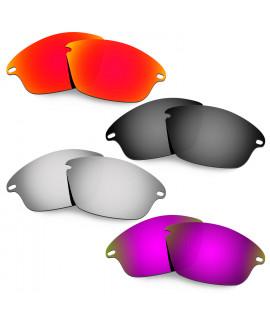 Hkuco Mens Replacement Lenses For Oakley Fast Jacket Red/Black/Titanium/Purple Sunglasses