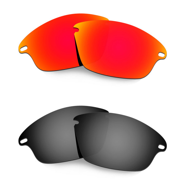 Hkuco Mens Replacement Lenses For Oakley Fast Jacket Red/Black Sunglasses