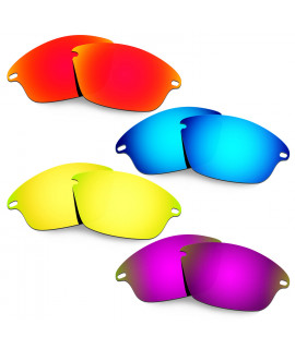 Hkuco Mens Replacement Lenses For Oakley Fast Jacket Red/Blue/24K Gold/Purple Sunglasses