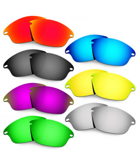 Hkuco Mens Replacement Lenses For Oakley Fast Jacket Red/Blue/Black/24K Gold/Titanium/Emerald Green/Purple Sunglasses