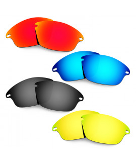 Hkuco Mens Replacement Lenses For Oakley Fast Jacket Red/Blue/Black/24K Gold Sunglasses