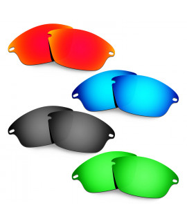 Hkuco Mens Replacement Lenses For Oakley Fast Jacket Red/Blue/Black/Emerald Green Sunglasses