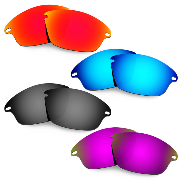 Hkuco Mens Replacement Lenses For Oakley Fast Jacket Red/Blue/Black/Purple Sunglasses