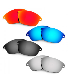 Hkuco Mens Replacement Lenses For Oakley Fast Jacket Red/Blue/Black/Titanium Sunglasses