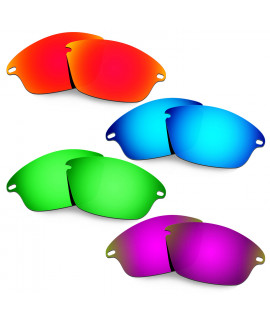 Hkuco Mens Replacement Lenses For Oakley Fast Jacket Red/Blue/Emerald Green/Purple Sunglasses