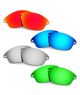Hkuco Mens Replacement Lenses For Oakley Fast Jacket Red/Blue/Titanium/Emerald Green Sunglasses