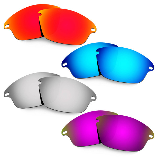 Hkuco Mens Replacement Lenses For Oakley Fast Jacket Red/Blue/Titanium/Purple Sunglasses