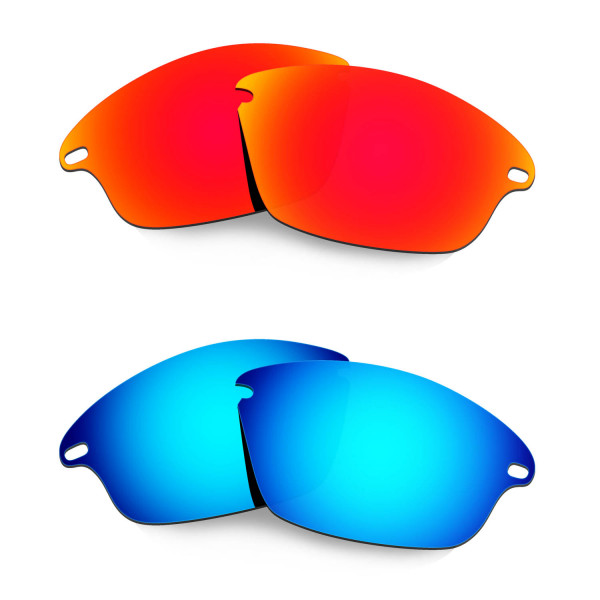 Hkuco Mens Replacement Lenses For Oakley Fast Jacket Red/Blue Sunglasses