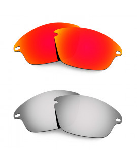 Hkuco Mens Replacement Lenses For Oakley Fast Jacket Red/Titanium Sunglasses