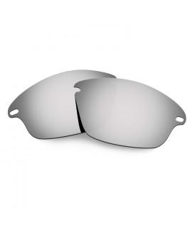 Hkuco Mens Replacement Lenses For Oakley Fast Jacket Sunglasses Titanium Mirror Polarized