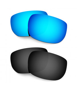 Hkuco Mens Replacement Lenses For Oakley Style Switch Sunglasses Blue/Black Polarized