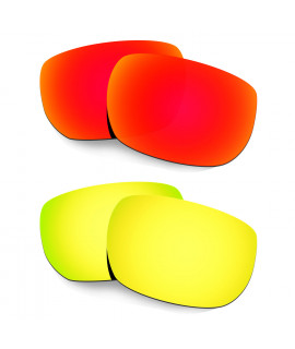 Hkuco Mens Replacement Lenses For Oakley Style Switch Red/24K Gold Sunglasses