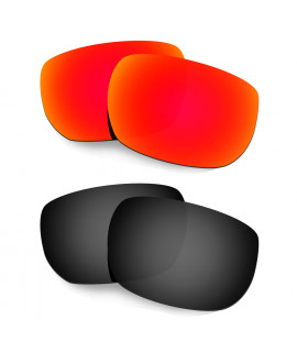 Hkuco Mens Replacement Lenses For Oakley Style Switch Red/Black Sunglasses