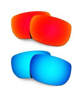 Hkuco Mens Replacement Lenses For Oakley Style Switch Red/Blue Sunglasses