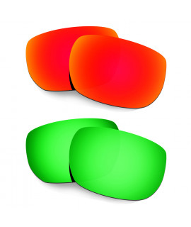 Hkuco Mens Replacement Lenses For Oakley Style Switch Red/Emerald Green Sunglasses