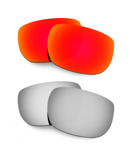 Hkuco Mens Replacement Lenses For Oakley Style Switch Red/Titanium Sunglasses