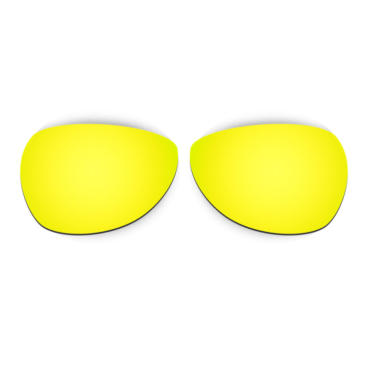 HKUCO Mens Replacement Lenses For Oakley Felon Blue/24K Gold/Emerald Green Sunglasses JawkFUrbv