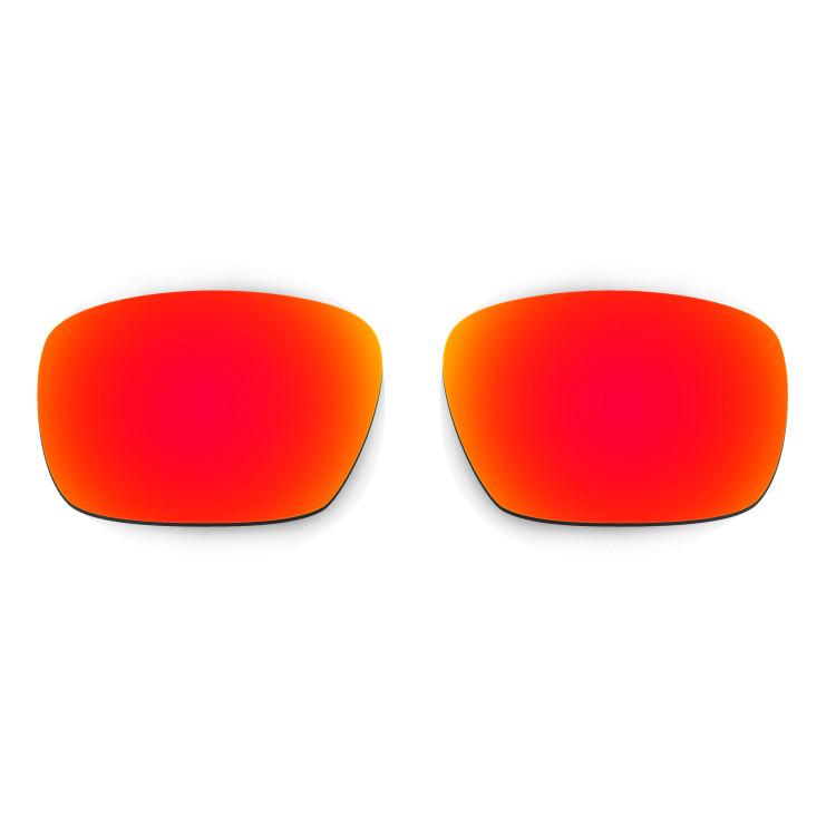 HKUCO Mens Replacement Lenses For Oakley Badman Red/Blue/Black/Titanium Sunglasses AHHepDJYJX