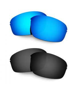 Hkuco Mens Replacement Lenses For Oakley Half Wire 2.0 Sunglasses Blue/Black Polarized