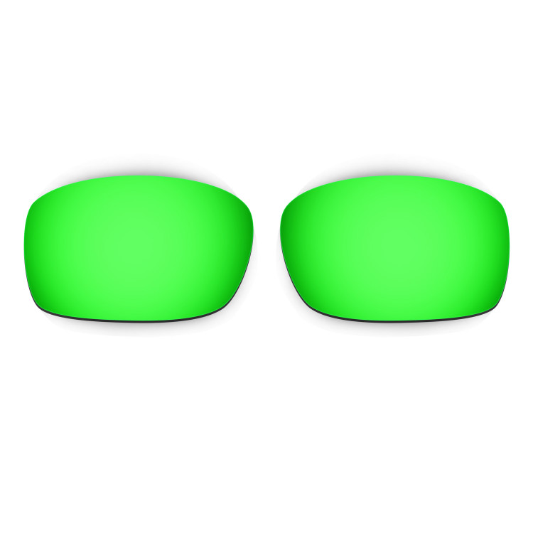 HKUCO Mens Replacement Lenses For Oakley X Squared Sunglasses Emerald Green Polarized