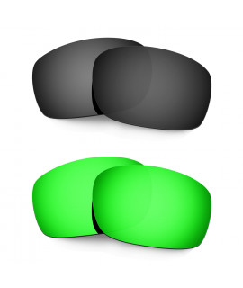 Hkuco Mens Replacement Lenses For Oakley X Squared Black/Emerald Green Sunglasses