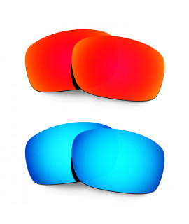 Hkuco Mens Replacement Lenses For Oakley X Squared Red/Blue Sunglasses