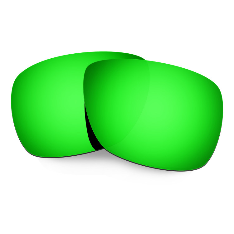 HKUCO Mens Replacement Lenses For Oakley Inmate Black/Emerald Green Sunglasses ZRXdf8