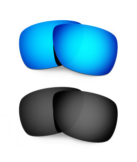 Hkuco Mens Replacement Lenses For Oakley Inmate Sunglasses Blue/Black Polarized