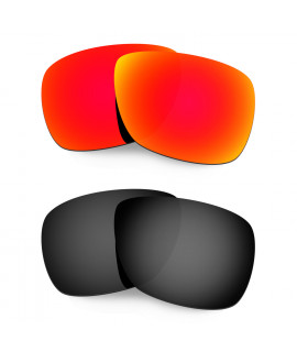 Hkuco Mens Replacement Lenses For Oakley Inmate Red/Black Sunglasses